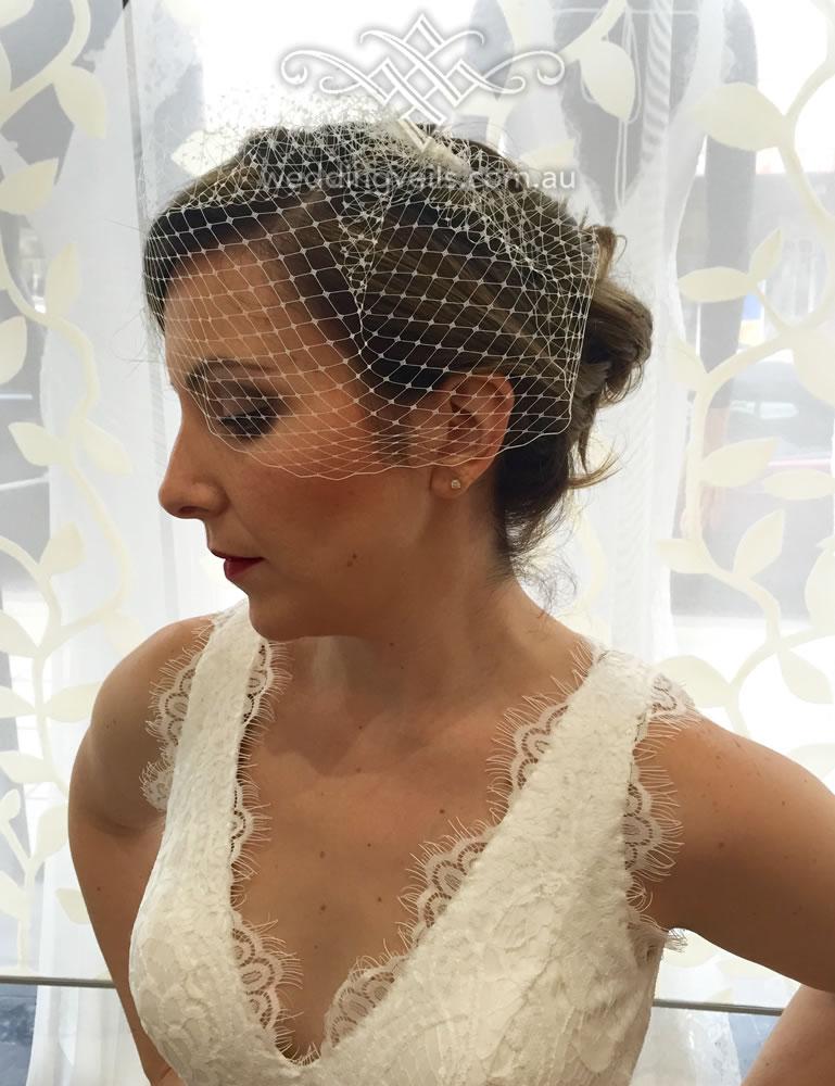 emily birdcage veil � wedding veils australia