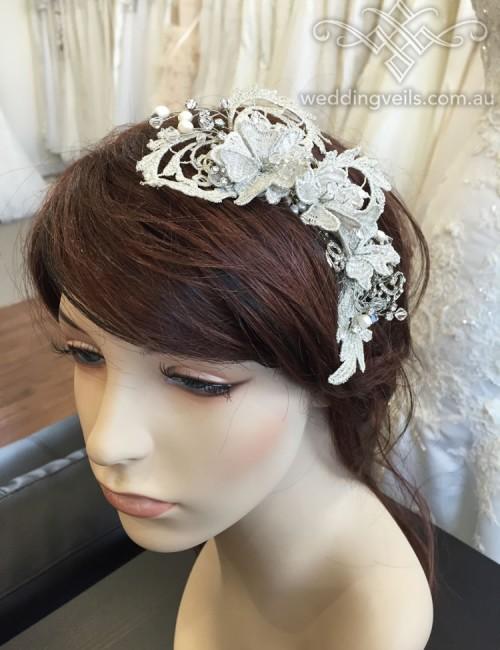 Belle Vintage Lace Headpiece
