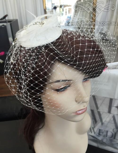 Cassandra Birdcage Veil