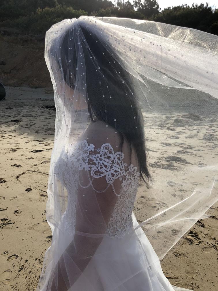 Georgia Pearl Beaded Veil
